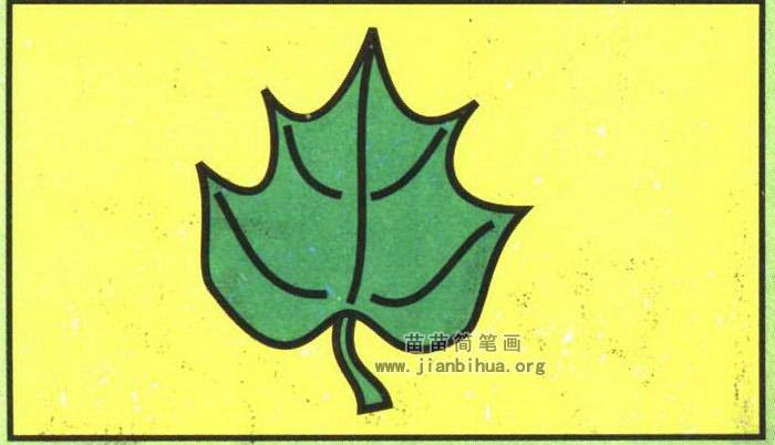 树叶简笔画图片 教程