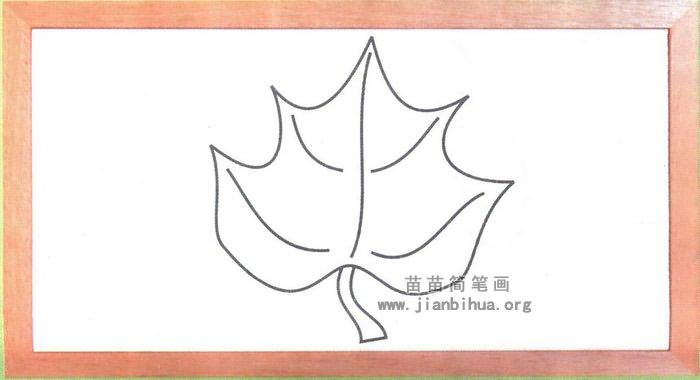 树叶简笔画图片,教程
