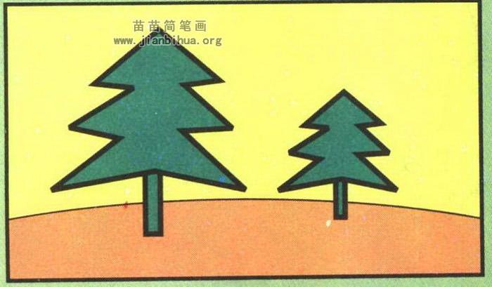 松树简笔画图片大全 图解