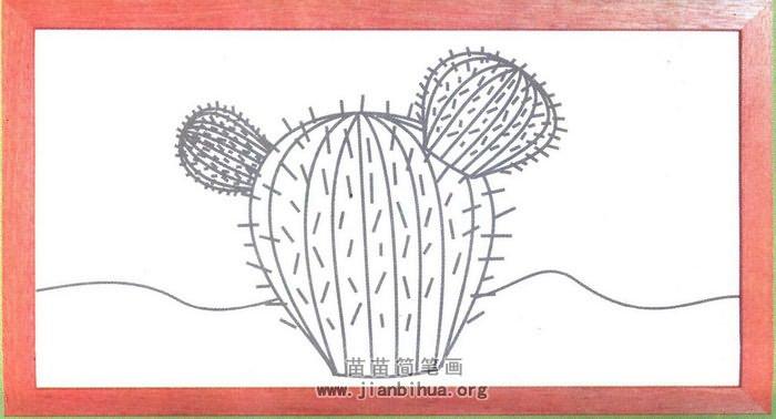 仙人球简笔画