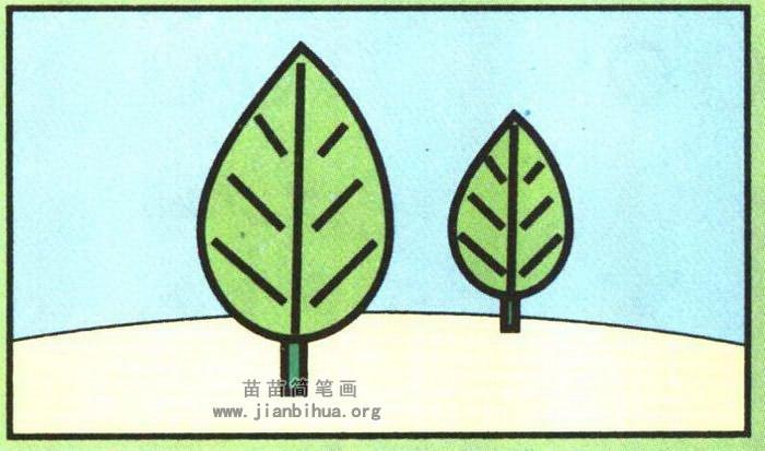 小树简笔画图片大全,教程