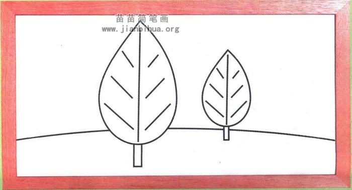 小树简笔画图片大全,教程. www.jianbihua.org 宽700x379高