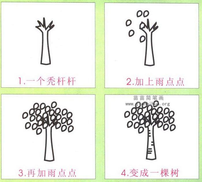 杨树简笔画