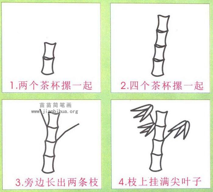 竹子简笔画怎么画图解