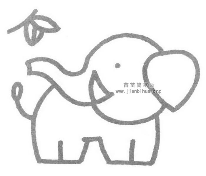 大象儿歌和简笔画教程