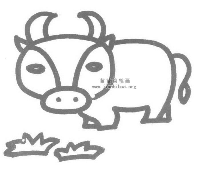牛的简笔画图片