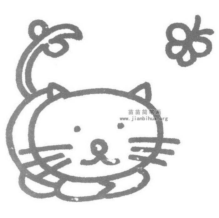 小猫儿歌和简笔画教程