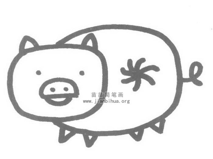 小猪简笔画图片-小猪儿歌和简笔画教程