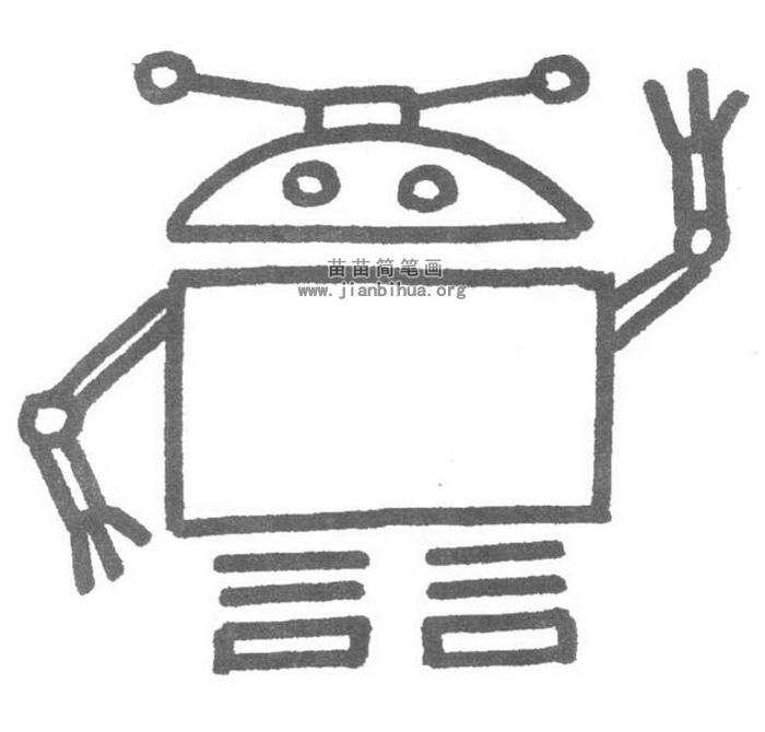 机器人简笔画图片