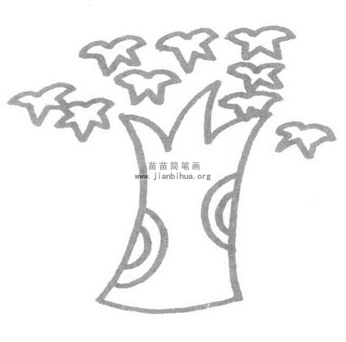 枫树儿歌和简笔画教程