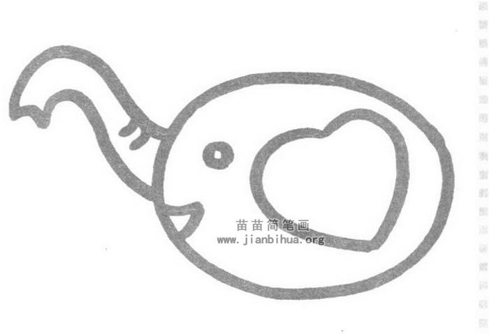 大象简笔画怎么画图解教程