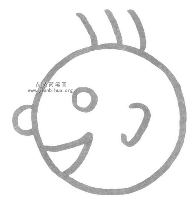 三毛简笔画怎么画图解教程