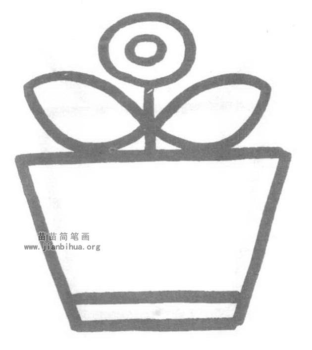 花盆简笔画怎么画图解教程