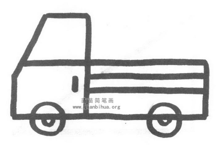 卡车简笔画怎么画图解教程