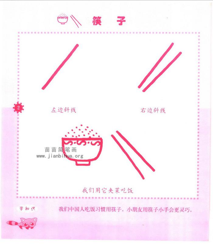 筷子简笔画怎么画图解教程