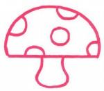 蘑菇简笔画怎么画图解教程