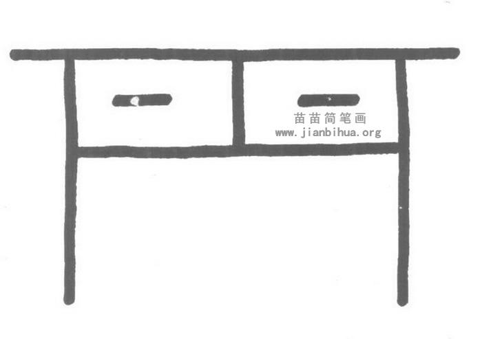 书桌简笔画怎么画图解教程
