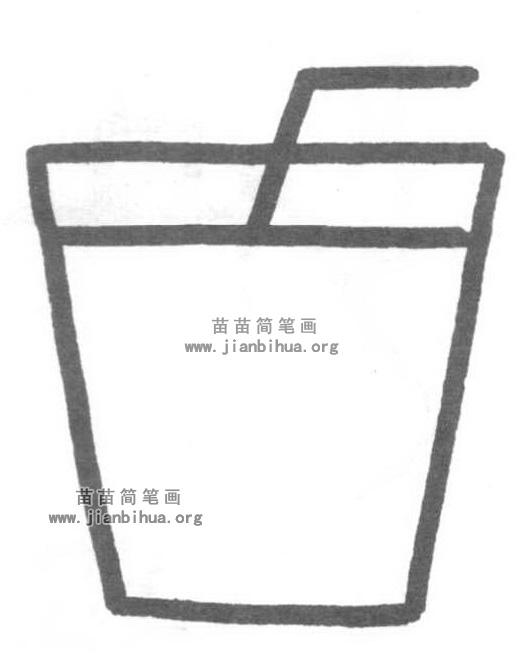 水杯简笔画怎么画图解教程