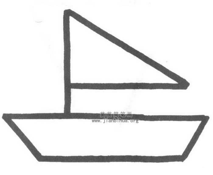 小船简笔画怎么画图解教程