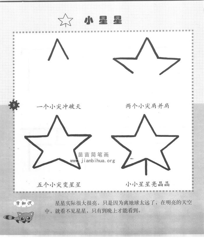 小星星简笔画怎么画图解教程