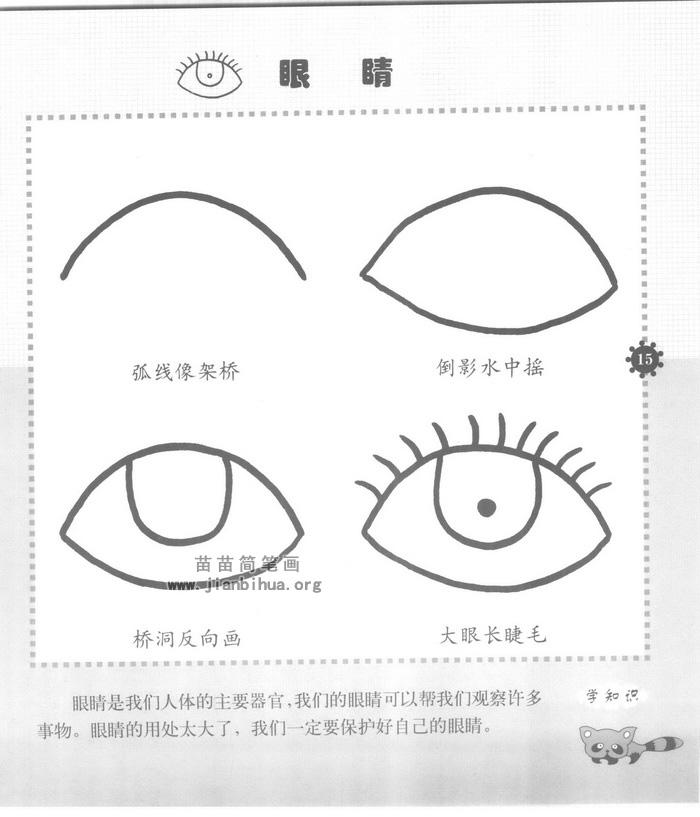 眼睛简笔画怎么画图解教程