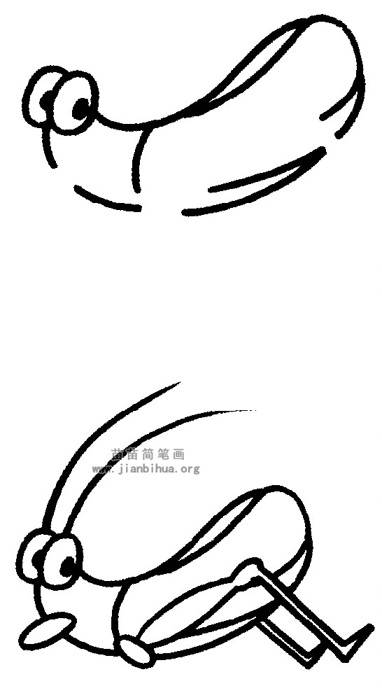 蚱蜢简笔画