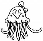水母简笔画图片与资料