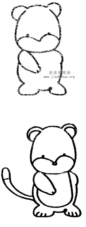 卡通豹子简笔画图片与知识