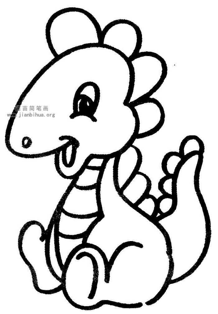 卡通恐龙简笔画图片与知识