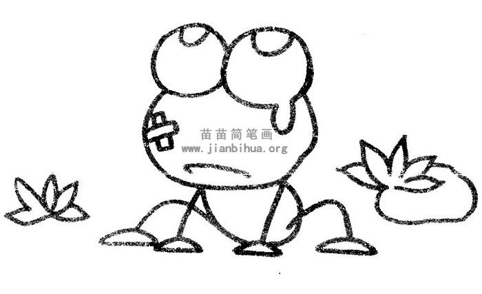 青蛙简笔画图片