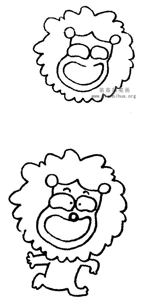 狮子简笔画图片与知识