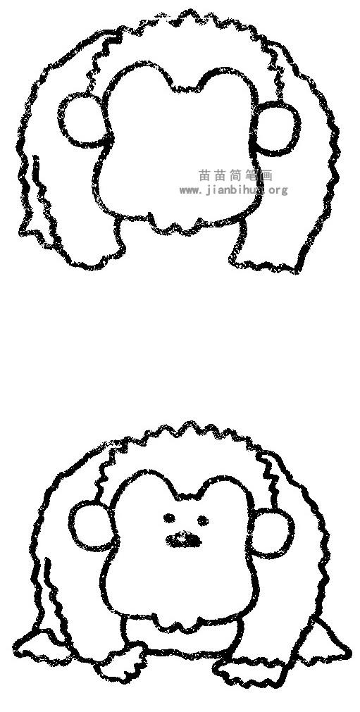 猩猩简笔画