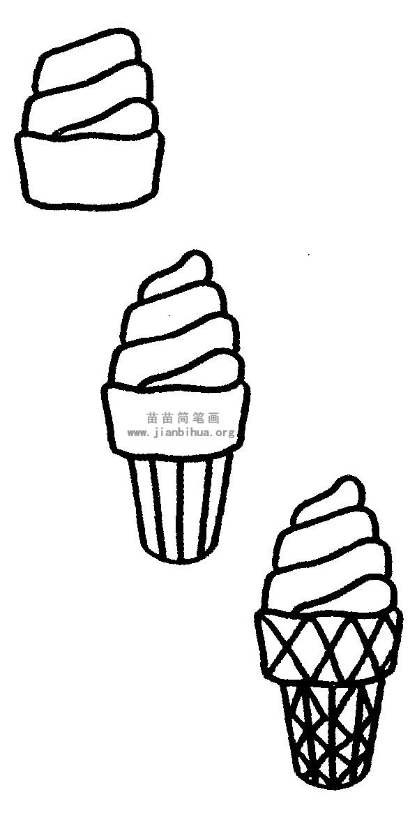 冰淇淋简笔画图片与知识