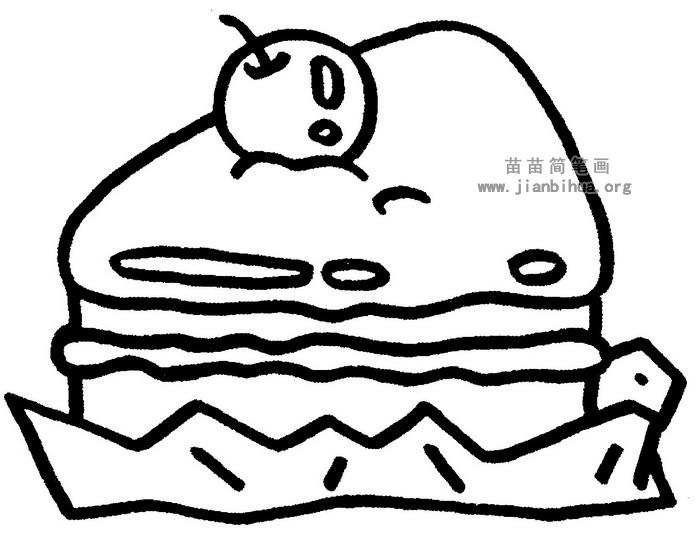 蛋糕简笔画图片与知识