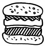汉堡简笔画图片与知识