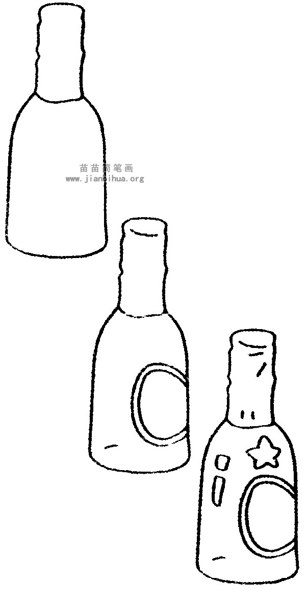 啤酒简笔画