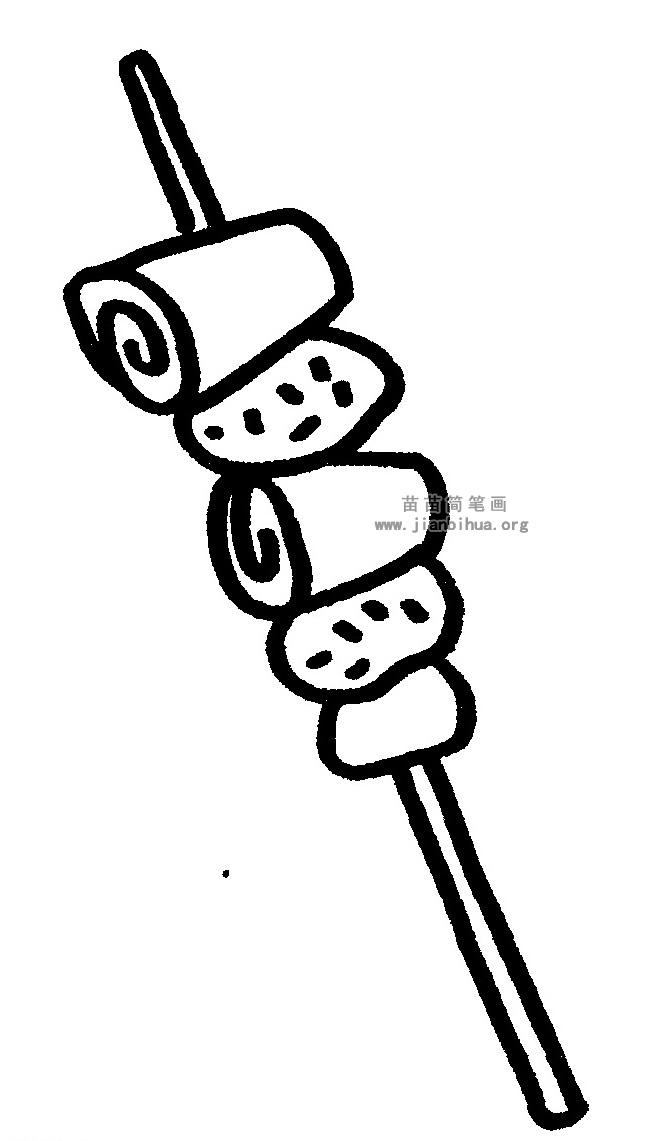 羊肉串简笔画