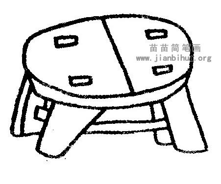 板凳简笔画
