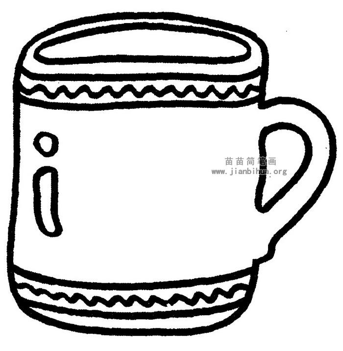 茶杯简笔画