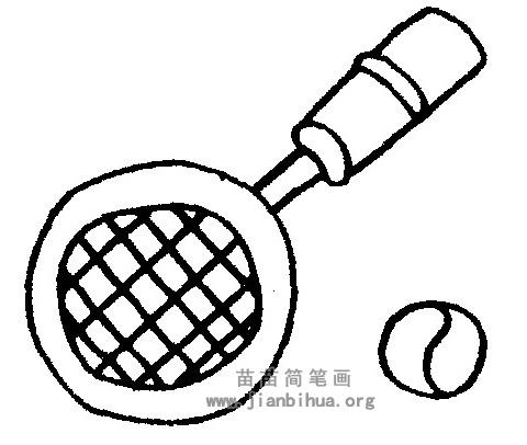 网球拍简笔画图片