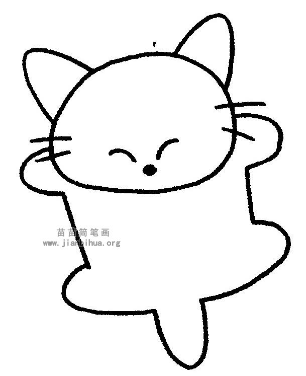 猫的简笔画,儿歌与知识