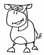 牛的简笔画、儿歌与知识