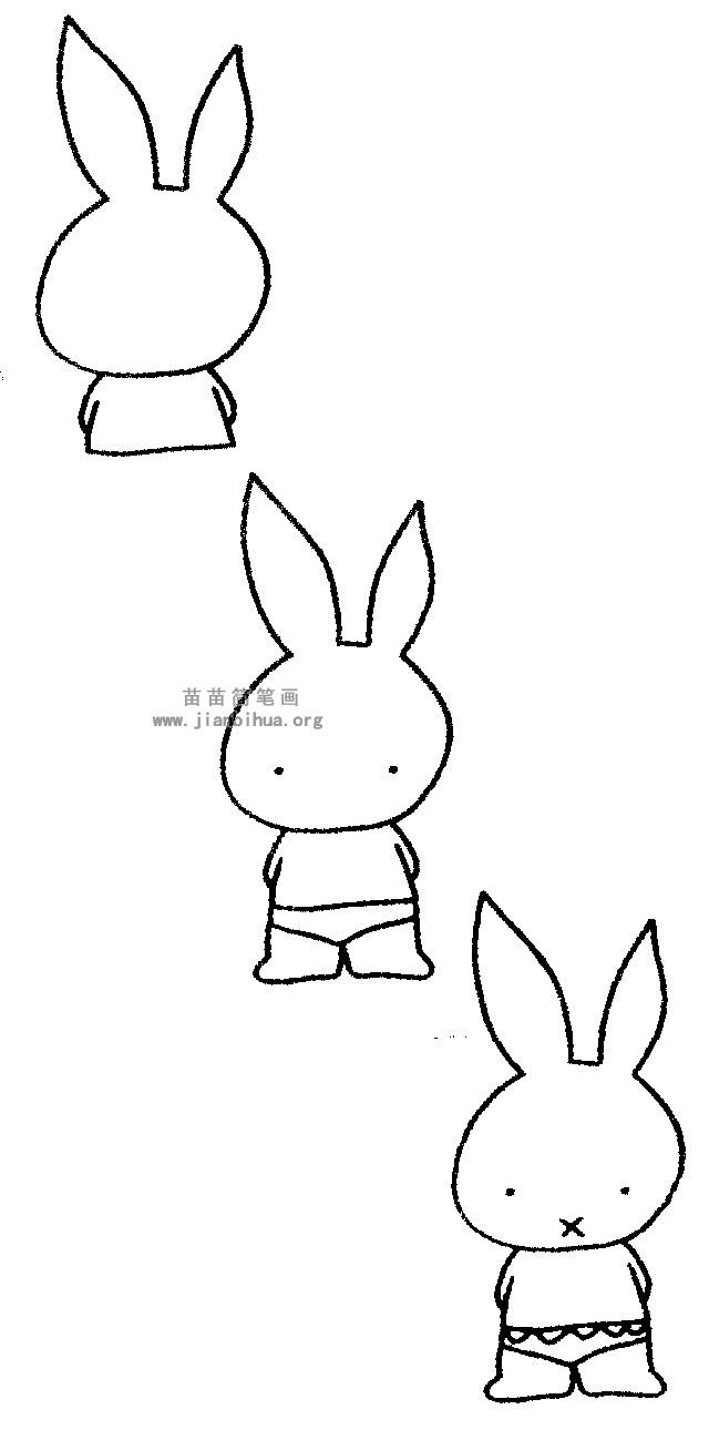 小兔子简笔画 儿歌与知识