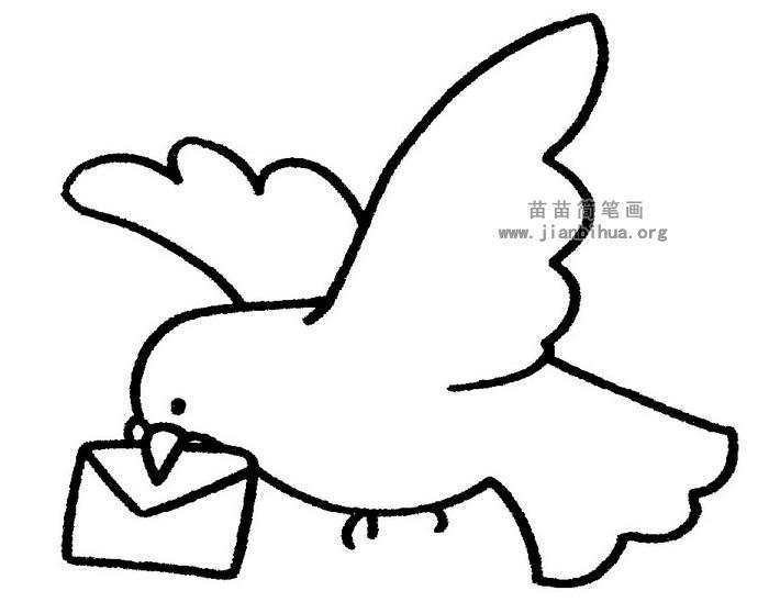 鸽子简笔画 儿歌与知识
