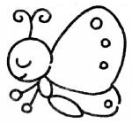 蝴蝶简笔画、儿歌与知识