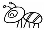 蚂蚁简笔画、儿歌与知识