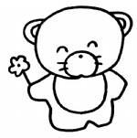 小熊简笔画、儿歌与知识