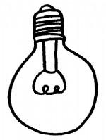 灯泡简笔画、儿歌与知识