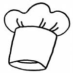 厨师帽简笔画、儿歌与知识
