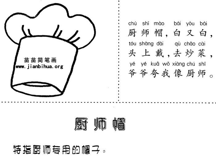 厨师帽简笔画